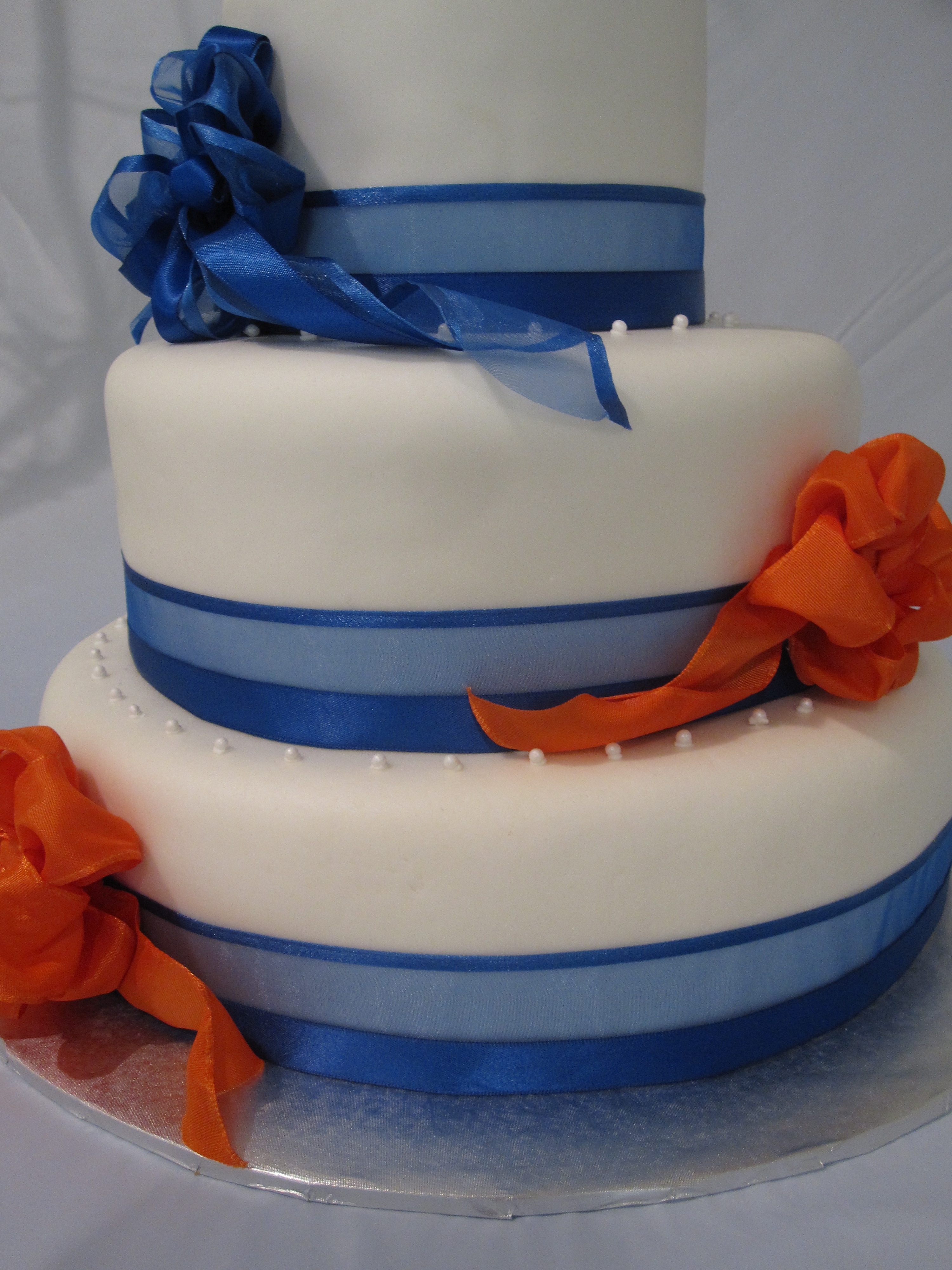 wedding – blue & orange bows (3)  