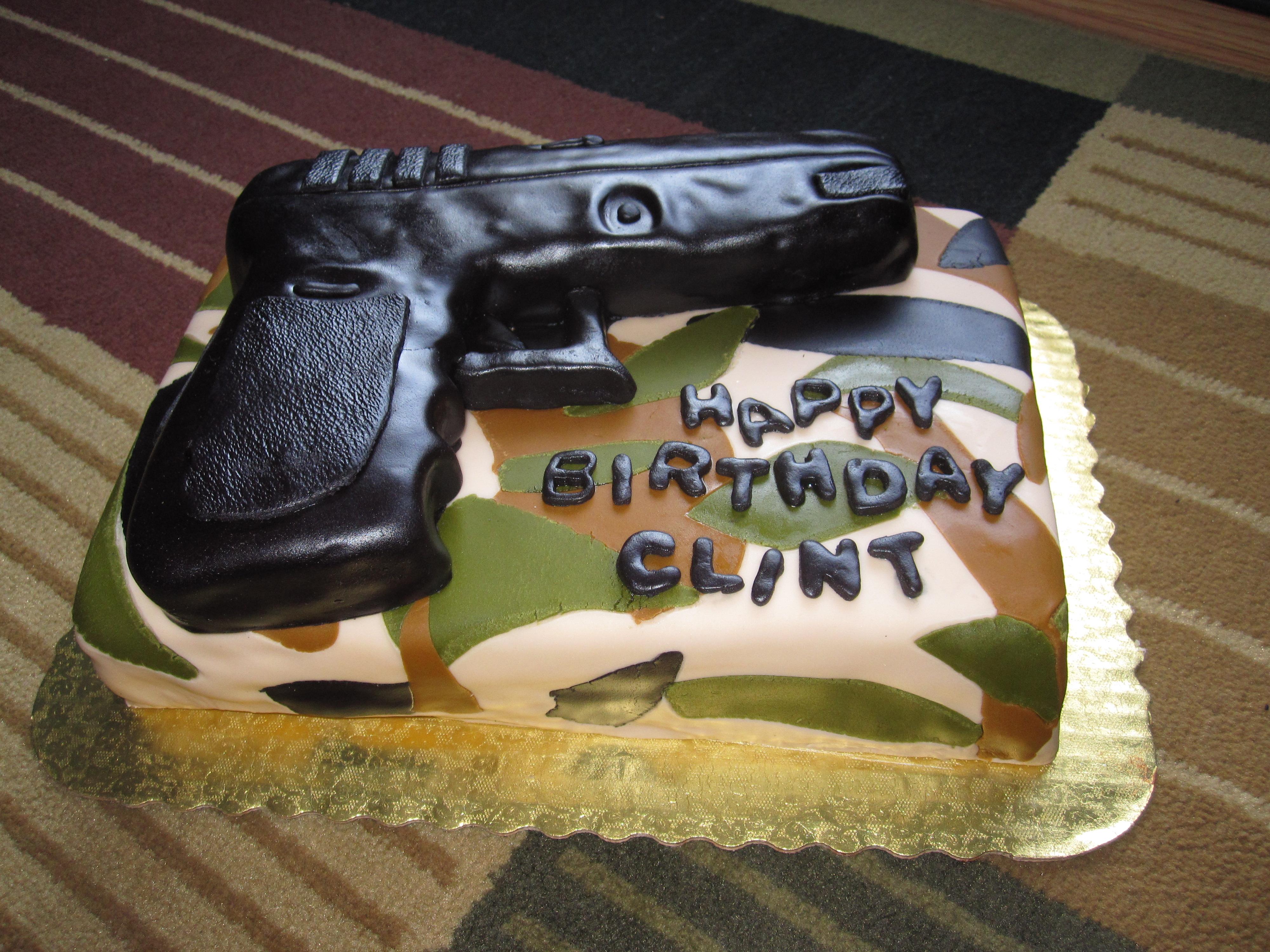 Gun Shaped Cake Pan